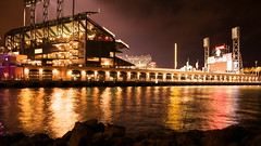 At&t Park from McCovey Cove at 1030pm (McSleepy) Tags: sanfrancisco california water bay giants barrybonds mccoveycove statdium attpark