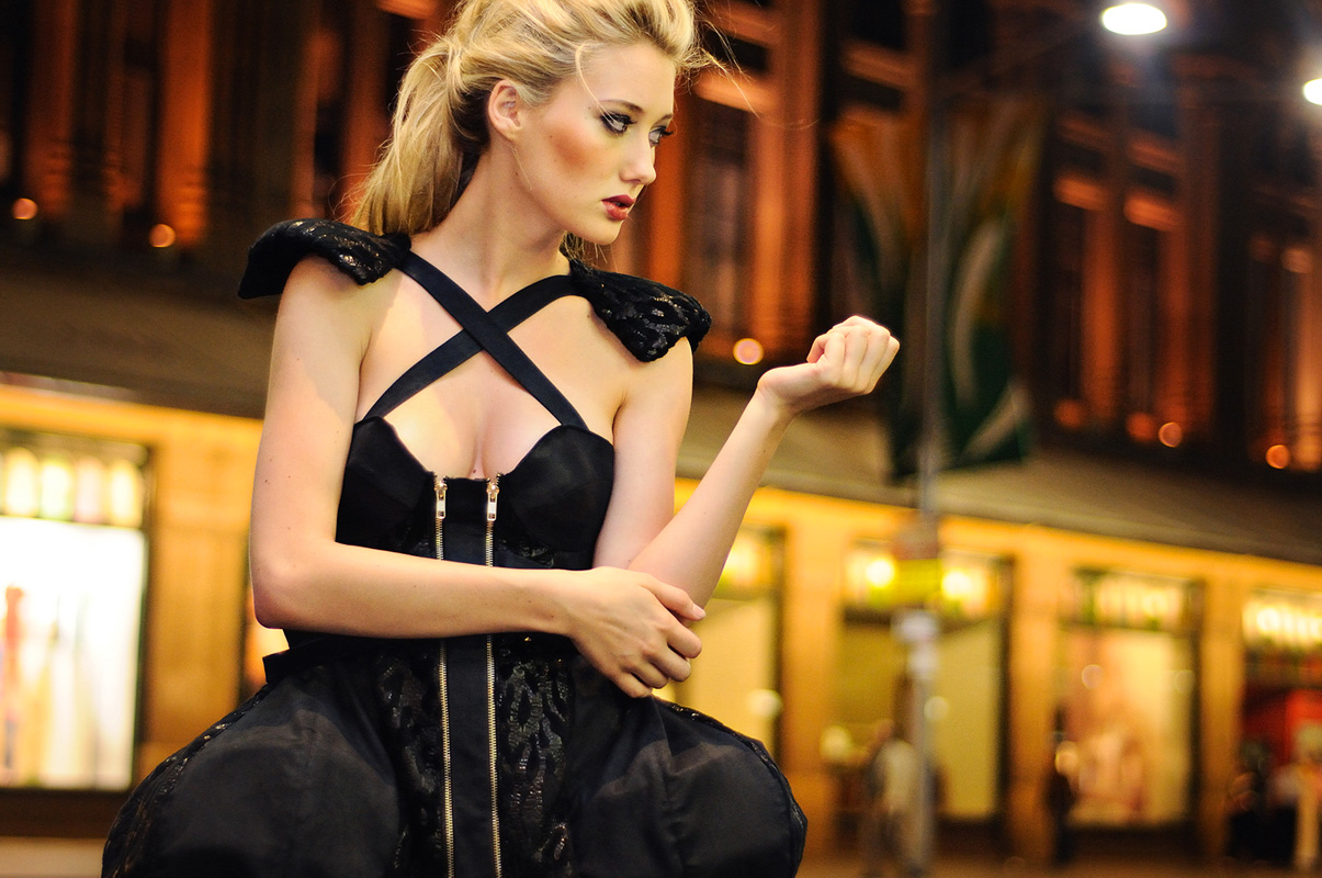 Black Dress by Sarah Starky, Night Fashion on George St Sydney