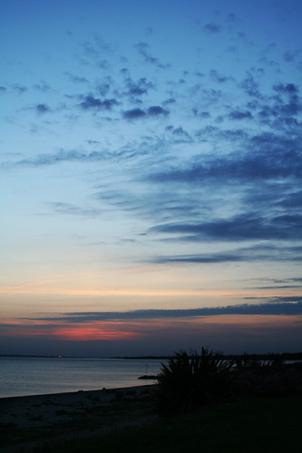 Lee On Solent Sunset Towards Southampton