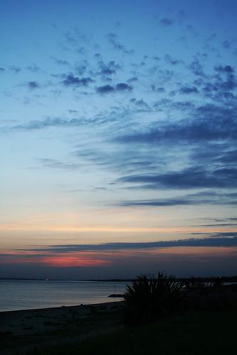 Lee On Solent Sunset Towards Southampton