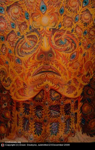 painting by: Alex Grey tattoo
