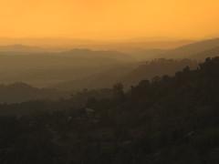 View from Dharamsala (travelholic.himalayas) Tags: sunset india mountains colors view cloudy rays sunrays himalayas dharamshala dharamsala mcleodganj himachalpradesh kangravalley canong10 mcllocom saranshsehgal