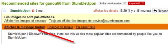 gmail traduction lien