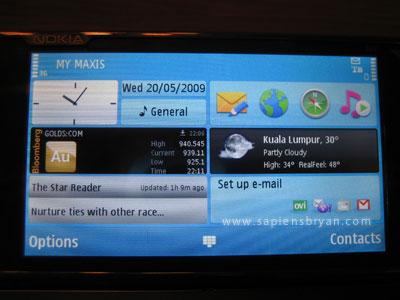 Nokia N97 Widgets