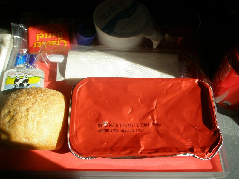 inflight meal