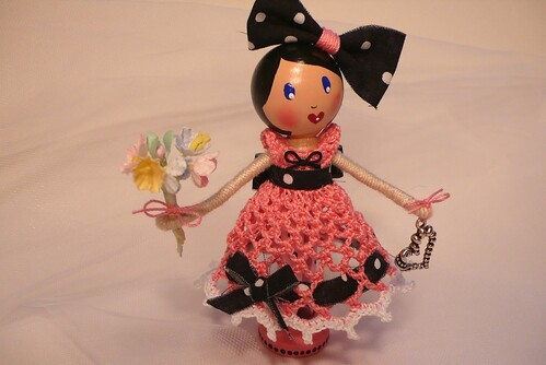 Sweet Caroline - Clothespin Doll by creatingtreasures.