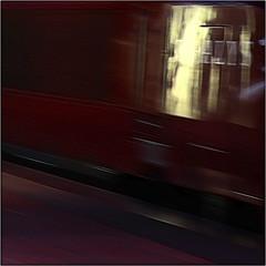 Thalys (Luc B - PhLB) Tags: thalys red yellow unsharp train railway setnieuw square phlb uu abstraction