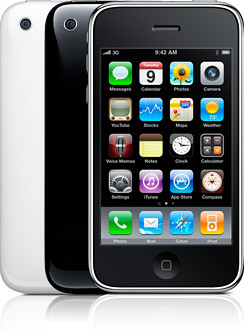 iPhone 3GS black white