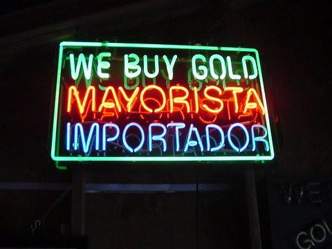 We Buy Gold neon