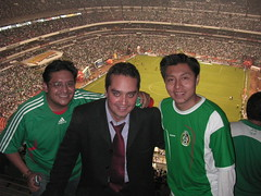 Huberto, Paco, and Edgar at the game