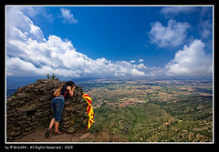 Castell de Verdera ( Pere Soler) Tags: blue sea sky clouds landscape interestingness flag explore frontpage portdelaselva abigfave braid44
