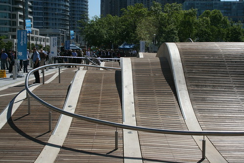 The hand rail that loops around the Wavedecks steeper parts