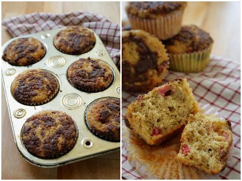 Cinnamon Rhubarb Muffins