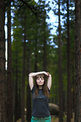 167/365 June 16, 2009 (laurenlemon) Tags: trees portrait forest lyrics interestingness meditate 85mm thelongwinters 365 f18 closedeyes galena 365days explored june09 canoneos5dmarkii homersiliad laurenrandolph laurenlemon travelsofhomerodyssey stressfuldaytomorrow yeahmyshirtsinsideout