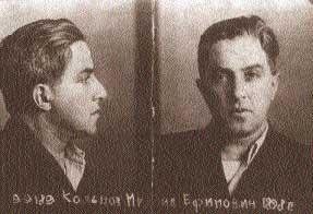 Mijail Koltsov al ser detenido
