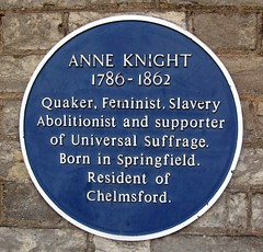 Photo of Anne Knight blue plaque