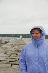 Laura at Rockland Breakwater