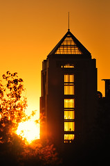 blast off (frank maiello) Tags: park new sunset sun building tower silhouette liberty state center science telephoto jersey maiello frankmaiello