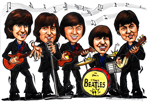Beatles caricatures for Ernst & Young