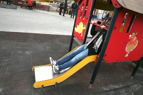 Fryds lekeplass passer vel egentlig bedre for de som er litt yngre