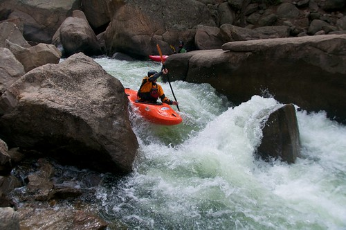 whitewater kayaking dude