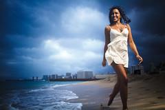 Leilani Spring Fischbeck (Jeremy Snell) Tags: ocean sunset beach girl hawaii pretty dress waikiki oahu running honolulu 24mm leilani fischbeck