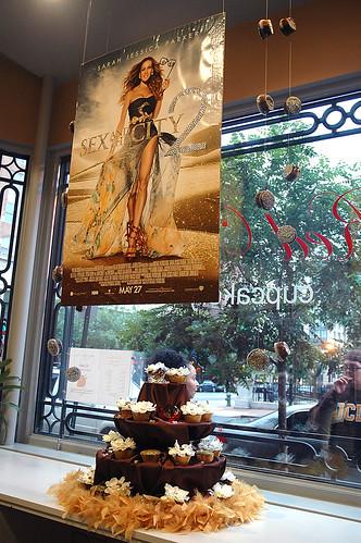 Red Velvet Cupcake Display
