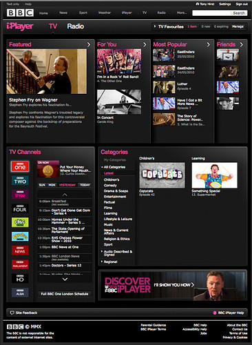 New BBC iPlayer website