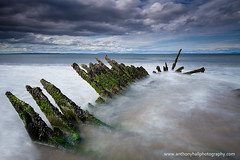Longniddry Wreck (Azzmataz) Tags: longexposure sea scotland long exposure wreck longniddry anthonyhallphotography wwwanthonyhallphotographycom