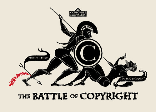 THE BATTLE OF COPYRIGHT  2011 by CHRISTOPHER DOMBRES, on Flickr