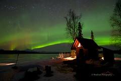 Nights Bliss (Ed Boudreau) Tags: alaska landscape cabin denali mtmckinley northernlights auroraborealis frozenlake trappercreek alaskalandscape