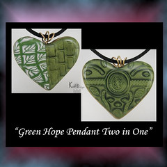 Green Hope Pendant - Two pendants in One