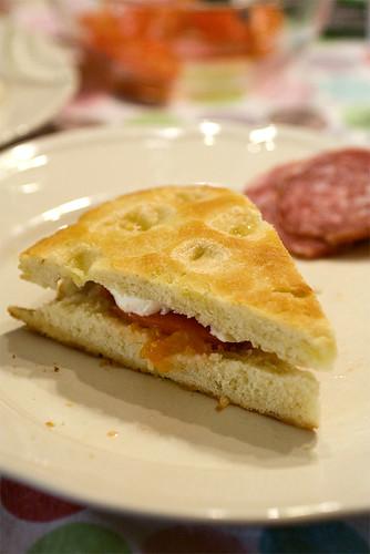 Focaccia con ricetta di Locatelli