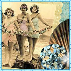 vintage seaside avatar (Sea Dream Studio) Tags: ocean sea shells art beach shop vintage studio fire graphics banner dream etsy flappers jewels lollishop