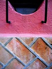 SMA wall detail #6 (msdonnalee) Tags: pink brick muro wall mexico pared vent architecturaldetail  rosa explore mortar mexique mura mur parede mauer mexiko  walldetail walltexture supershot   cmwdpink colorartawards mexicanwall donnacleveland photosbydonnacleveland murodemxico