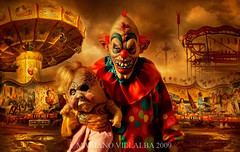CARNIVAL OF HORROR (Mariano Villalba) Tags: carnival sunset baby argentina souls movie blood doll shoot play circus clown games horror devil tribute payaso mariano villalba diabolique imagicland