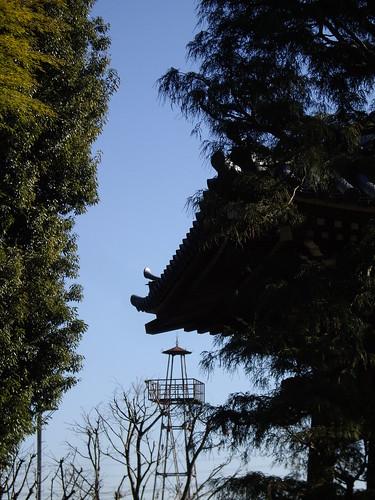 法臺寺から見た火の見櫓