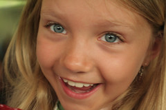 So very happy! (Katarzyna Antonina) Tags: blue portrait girl smile happy eyes child joy daughter blueribbonwinner top20childrensportraits flickrelite