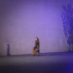 Just walkin' @ Rotterdam (Christiaan Brugge) Tags: chris shadow white girl wall dark walking moving purple nightshot bricks lavender blurred lavendel astoundingimage christiaanbrugge chpbrugge cpbrugge cbrugge chrisbrugge