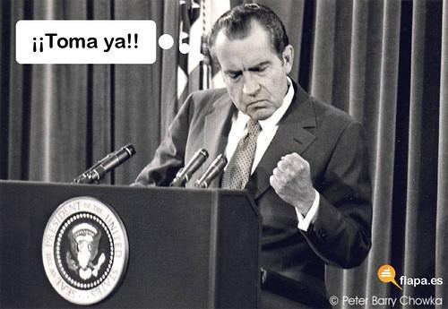 Richard Nixon se alegra