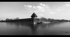 Forbidden City (davidfattibene) Tags: china bw cityscape beijing panoramic bnvitadistrada bncitt forbiddecity