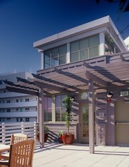 the roof deck on NRDC's green building (by: Tim Street-Porter, for US Green Building Council)