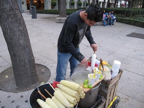 路邊的玉米小攤
