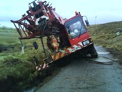 oops.! (DonaldUist) Tags: ditch crane uist southuist northuist lochboisdale laings locheport