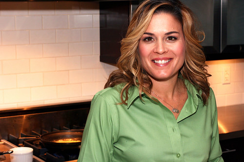 Cat Cora at a Press Event