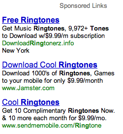 Ringtones and Google