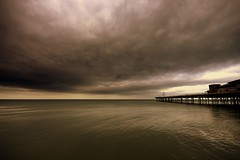 (andrewlee1967) Tags: uk sea sky wales clouds pier britain wideangle gb lightanddark rhosonsea colwynbay sigma1020mm 10mm andrewlee 50d mywinners andrewlee1967 canon50d lowsky