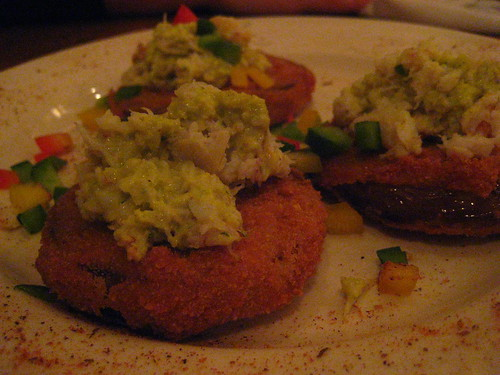 heaven on seven fried green tomatoes with crab meat