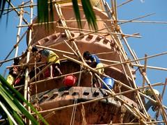 Sivadol restoration (Linda DV) Tags: travel portrait people india canon geotagged temple assam 2008 sevensisters sivasagar sibsagar 7sisters northeastindia powershots5is lindadevolder sensationalphoto sivadol