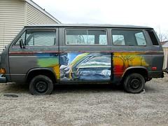 hippie van (frankieleon) Tags: color bus vw volkswagen interestingness interesting paint bestof cc creativecommons hippie van popular frankieleon